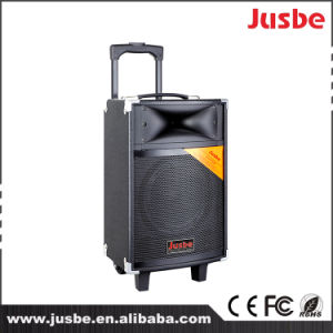 Jusbe 200W USB bluetooth portable MP3 Play Horn Speaker Trolley Multimedia Plastic PA Speaker for Stage pictures & photos