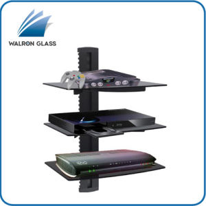 Glass Shelf Wall Mount Bracket Under TV LCD Component DVD xBox PS4 DVR Cable Box