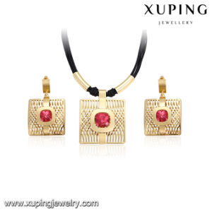 Set-26 New Big Gold Plated Hollow out Zircon Jewelry Set pictures & photos