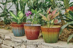 Flow Coating Decoration Flower Pot (KD9441-KD9443) pictures & photos