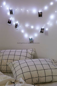 Card Photo Clip String Lights 3xaa Battery Christmas Fairy Lights Wedding Home Decoration pictures & photos