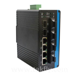 4-Port 10/100t + 2-Port 100/1000X SFP Industrial Ethernet Poe Switch pictures & photos