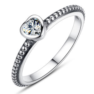 Fashion Cubic Zircon Ring 925 Sterling Silver Jewelry pictures & photos
