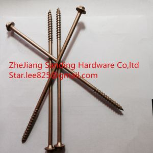 Yellow Zinc Plated 1000 Hours No Red Rust Hex Head Flange Milling Tail Tapping Screws pictures & photos