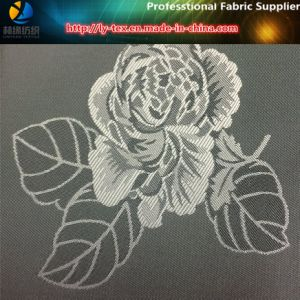 Polyester Flower Jacquard Fabric, Twill Taffeta Jacquard for Coat Lining (18) pictures & photos