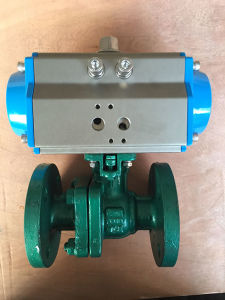Pneumatic Flange Ball Valve Pn40 pictures & photos