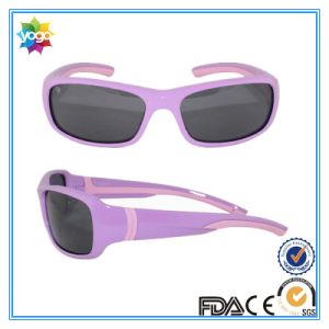 Sport Tpee Double Injection Kids Sun Glasses with Various Colors