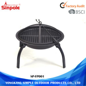 3-Feet Portable Camping Steel Round Grill BBQ Charcoal Fire Pit pictures & photos