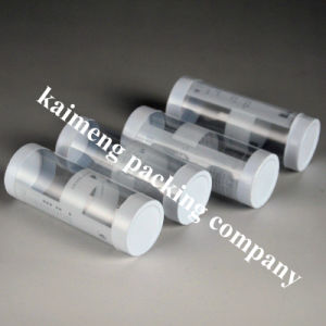 Silk Printing Clear 0.5mm Pet Plastic Cylinder Food Packaging pictures & photos