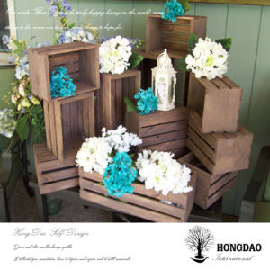 Hongdao Custom Wooden Storage Crates for Flowers Wholesale_L pictures & photos