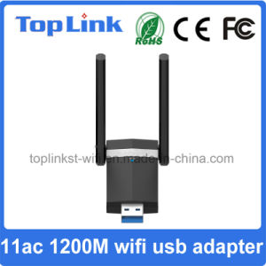 USB 3.0 11AC Dual Band 2t2r High Speed 1200Mbps Wireless Network Card with Foldable Antenna pictures & photos
