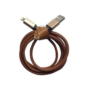 1m 3.3FT 8 Pin PU Leather Lightning USB Cable Charging and Sync Charge USB Cable for iPhone 5s 6 6s Plus (Brown Red Blue Block Dark blue Dark Brown) pictures & photos