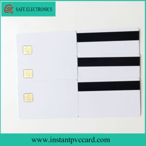Glossy Magnetic Stripe Card with Sle4428 Chip pictures & photos