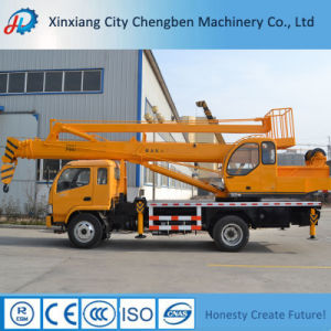 Mobile Hydraulic Folding Boom Aerial Bucket Truck Crane for 2 People pictures & photos