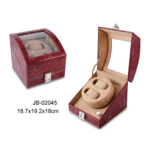 Luxury Leather Showbox Gift Box Packaging Display Watch Winder pictures & photos