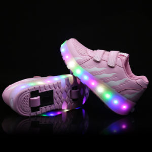 LED Roller Skate Shoes Kids Roller Skate Shoes Rollerlight up Shoes pictures & photos