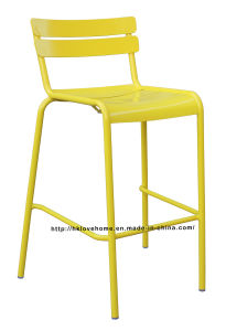 Dining Restaurant Garden Coffee Luxembourg Stacking Yellow Bar Chair pictures & photos