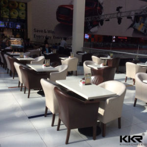 Man Made Stone Commercial Restaurant Banquet Dining Table Sets pictures & photos