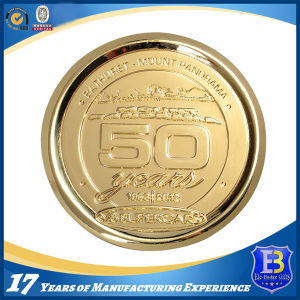 Promotional Shiny Gold Anniversary Souvenir Coin (Ele-C217) pictures & photos