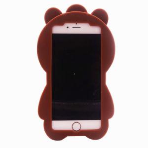 3D Cartoon Crossbar Bear Silicon Case for iPhone 7 7plus Cute Soft J5 J7 J710 (XSDW-090) pictures & photos