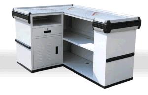 Checkout Counter Cash Register Showcase Display Cash Stand POS Unit Cash Counter 9203 pictures & photos