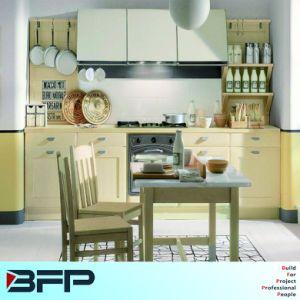 Light Yellow Mini Kitchen PVC Kitchen Cabinet pictures & photos