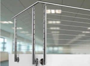 Balcony Stainless Steel Railing Cable Fence pictures & photos