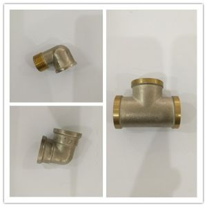 Polished Control Brass Water Double Angle Valve (YD-5008) pictures & photos