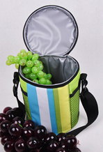 Striated Tubular Portable Small Insulation Ice Cooler Bag pictures & photos