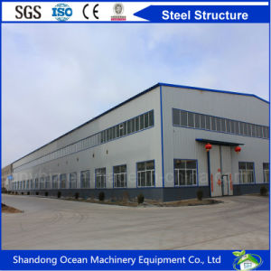 Long Span Prefabricated Steel Structure Factory Workshop and Warehouse with Cheap Price and Good Quality pictures & photos