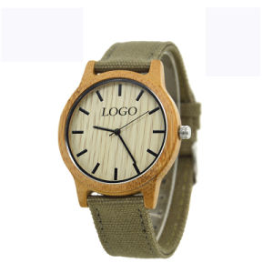 OEM Fashion Hot Selling Wooden Canvas Watch pictures & photos