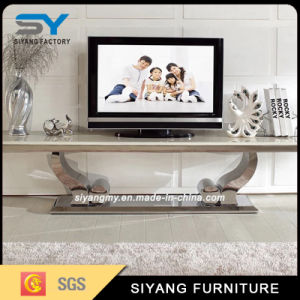 Chinese Furniture Marble Top TV Stand with Side Cabinets pictures & photos