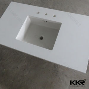 Customizd Stone Countertop Double Sink Bathroom Vanity pictures & photos