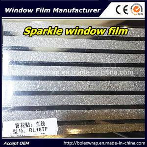 Decorative Line Design Sparkle Window Film Glass Window Film Office Window Film 1.22m*50m pictures & photos