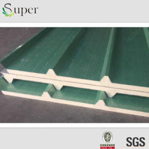 Soundproof Heat Insulated PU/Polyurethane Sandwich Panel Building Material pictures & photos