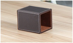 Classic Black Leather Art Pen Holder, Creative Multifunctional Office Pen Holder pictures & photos