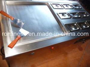 Square Pan Fried Icecream Rolling Machine/Icecream Roller/Fry Ice Cream Machine/Instant Ice Cream Roll/Fried Icream Cart/Icecream Cold Plate Cart Ce pictures & photos