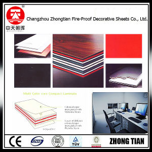 Solid Color Core Compact Laminate Board pictures & photos