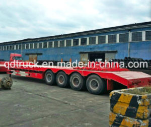 CAT5080 front loading 4 axles lowbed trailer, low loader trailer pictures & photos