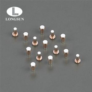 Silver/Copper Composite Rivet Contact Tips Used in Industrial or Solid Relays pictures & photos