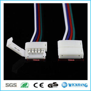 10mm 5pin Solderless Connector Cable for 5050 RGBW LED Strip Light pictures & photos