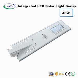 40W PIR Sensor Integrated LED Solar Street Light pictures & photos