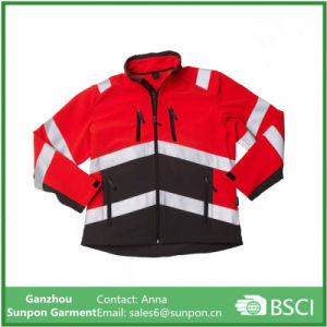 High Visibility Safety Softshell Jacket Workwear pictures & photos