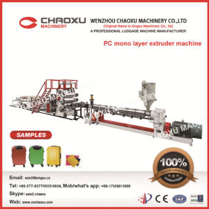 PC Single-Layer Sheet Plastic Extruder Machine for Luggage (Yx-21p) pictures & photos