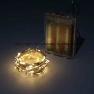 3AA Battery Operated Timer LED Fairy String Light for Christmas Decoration pictures & photos