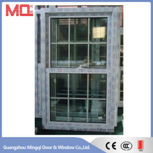 French Style UPVC Glass Window with Decorative Grill Design pictures & photos