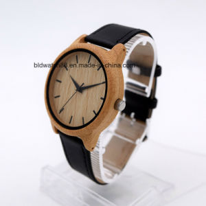 Unisex Handmade Bamboo Wood Watch with Leather Band pictures & photos
