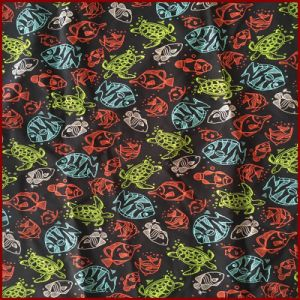 Turtle and Fish Printed Microfiber Peash Skin pictures & photos