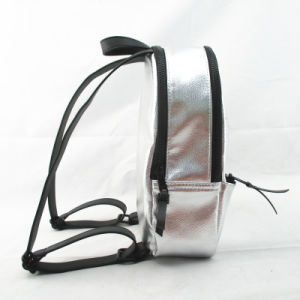 Silver Metallic PU Mini Star Backpack pictures & photos