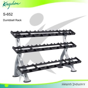 Storage Rack / Gym/Three Tiers Dumbbell Rack (S-652) pictures & photos
